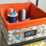 DIY Fabric Covered Storage Bins