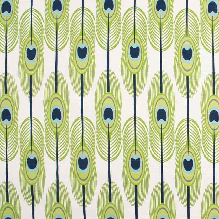 Premier Prints Feathers Canal Slub Fabric