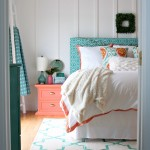 Turquoise & Coral Master Bedroom Inspiration