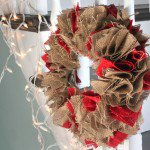 How to Make a Holiday Burlap Wreath