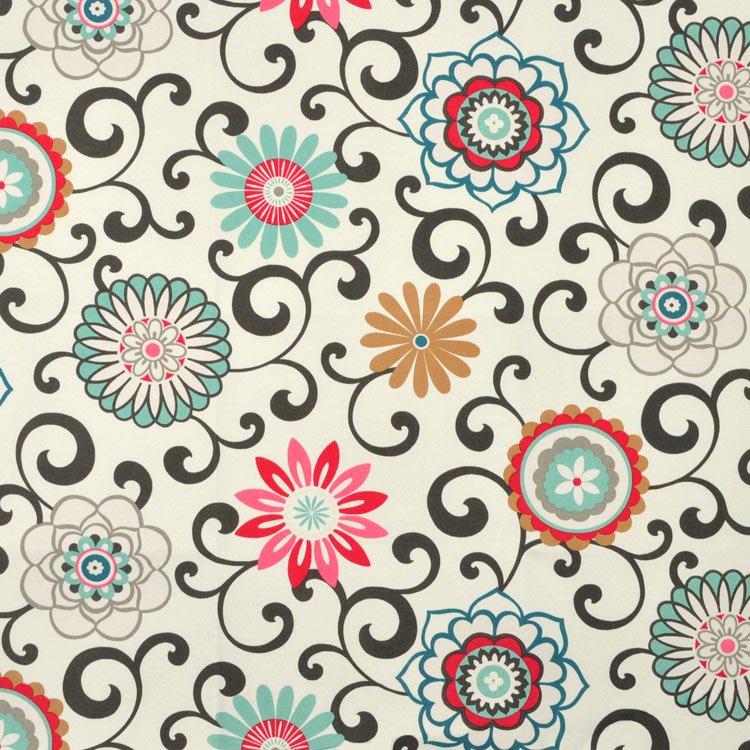 Waverly Pom Pom Play Sun N Shade Peachtini Fabric