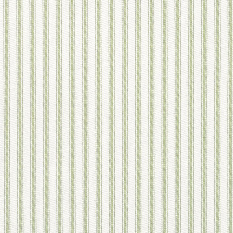 Covington Fern Green Woven Ticking Fabric