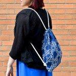 DIY Backpack Drawstring Bag Tutorial