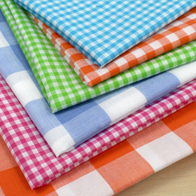 Gingham Drapery Fabric