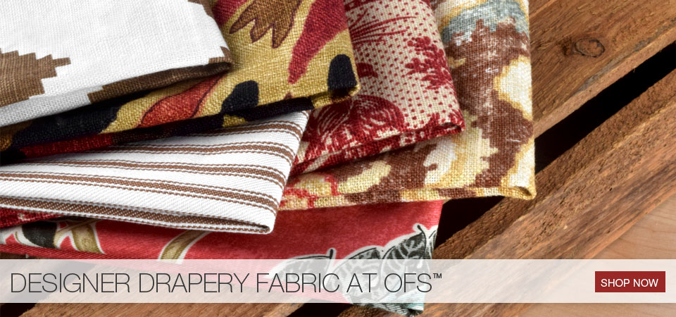 Designer drapery at OFS