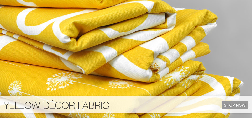 Yellow Decor Fabric