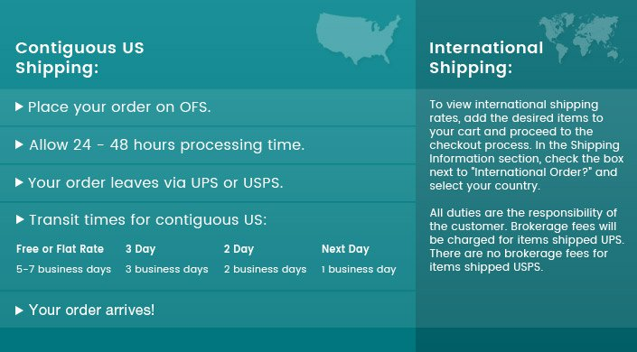 OFS Shipping Chart