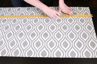 No Sew Valance - Measure the fabric