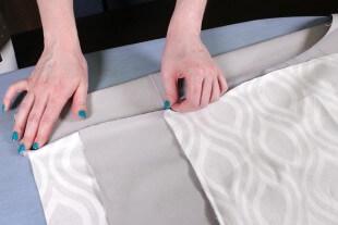 No Sew Valance - Fold the bottom band up
