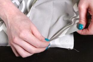 No Sew Valance - Fold up to create 45 degree angle