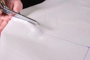 No Sew Valance - Cut the fabric