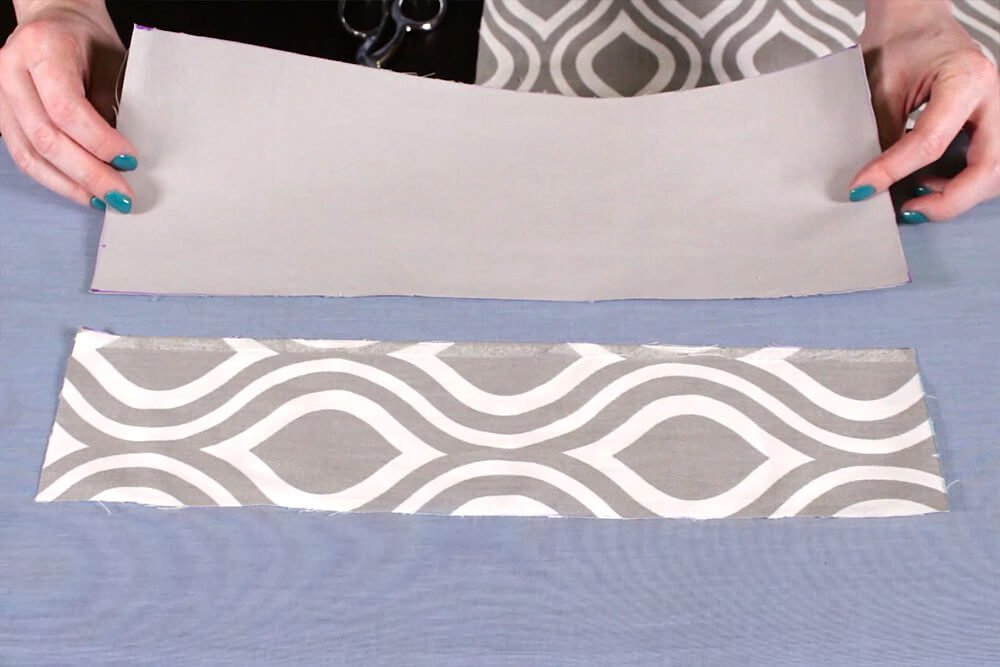 No Sew Valance - place other piece on top