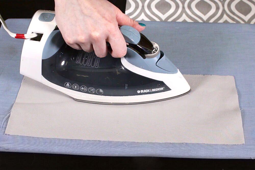 No Sew Valance - Iron the fabric