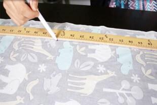 How to Sew an Easy Baby Blanket - Measuring the fabric