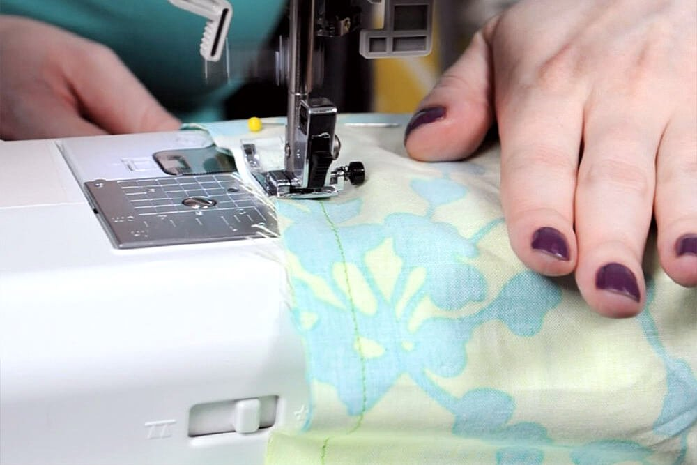 Infinity Scarf DIY Tutorial - Sew around the tube