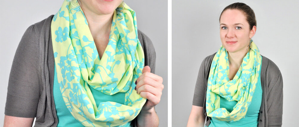 Infinity Scarf DIY Tutorial Finished