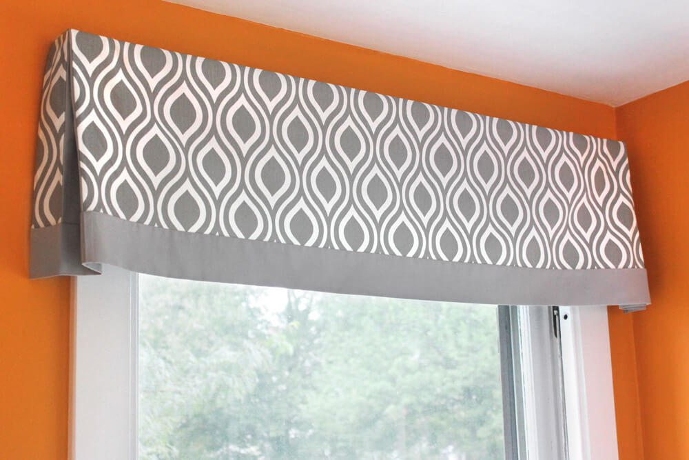 How to make a no sew valance - finished 1