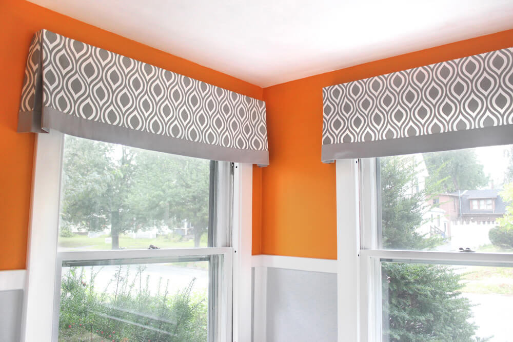 How to make a no sew valance - finished 2
