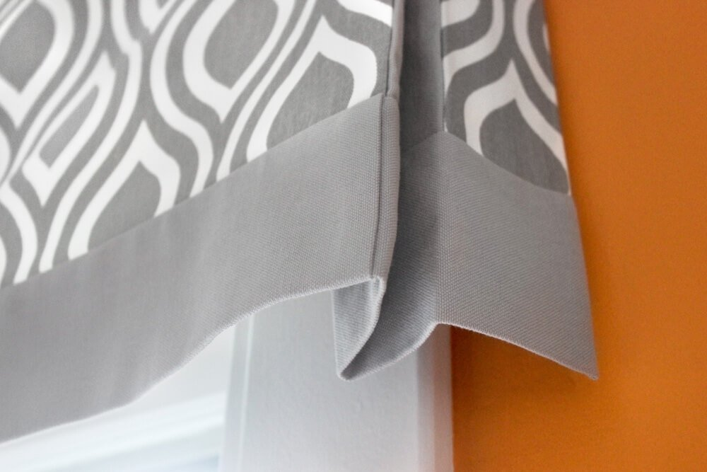 How to make a no sew valance - finished 3