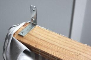 No Sew Valance - Screw brackets to the wood