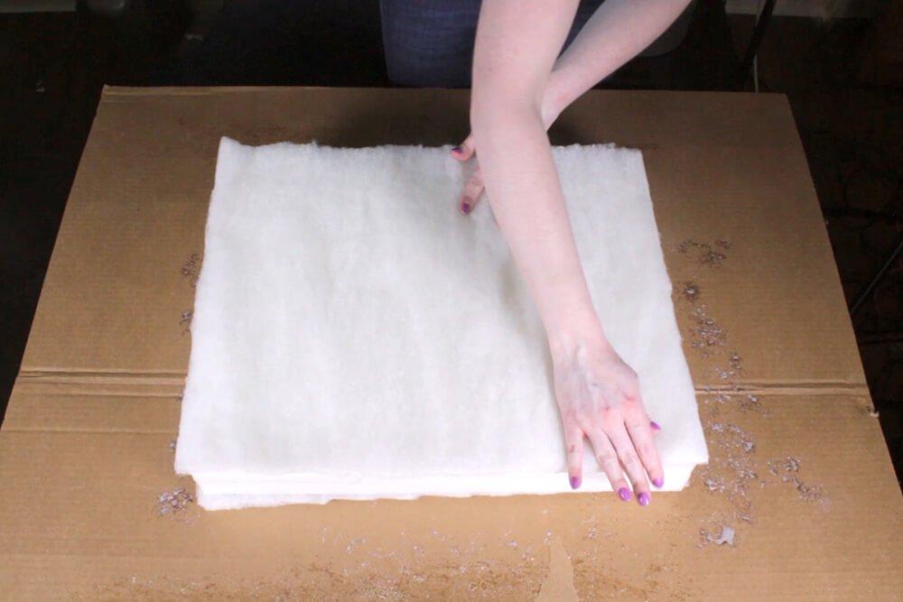 Box Cushion - Attach the padding