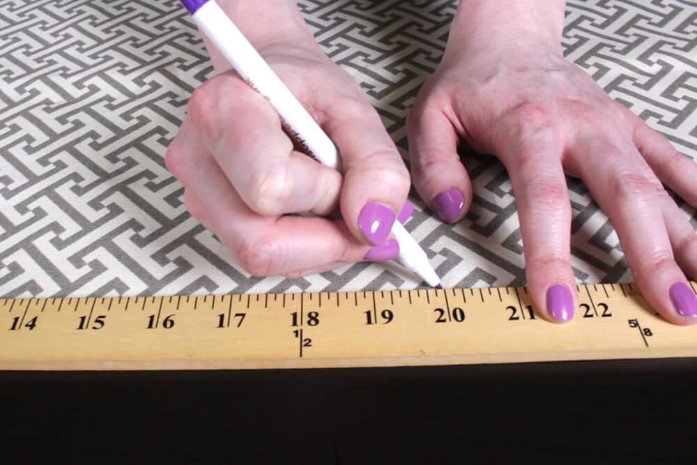 BoxCushion - Measure the fabric