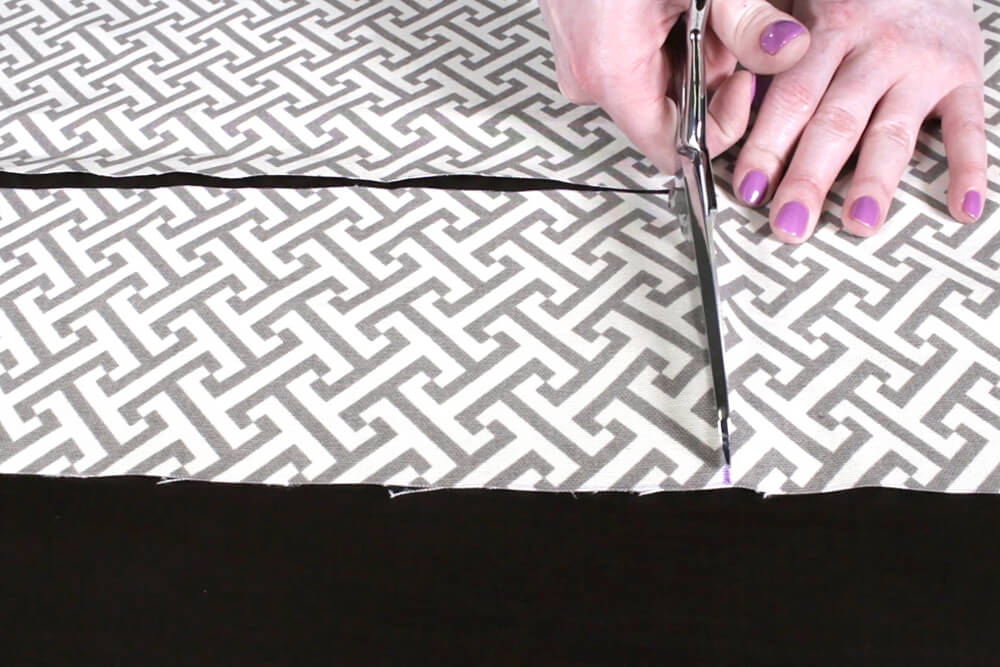 Box Cushion - Cut the fabric