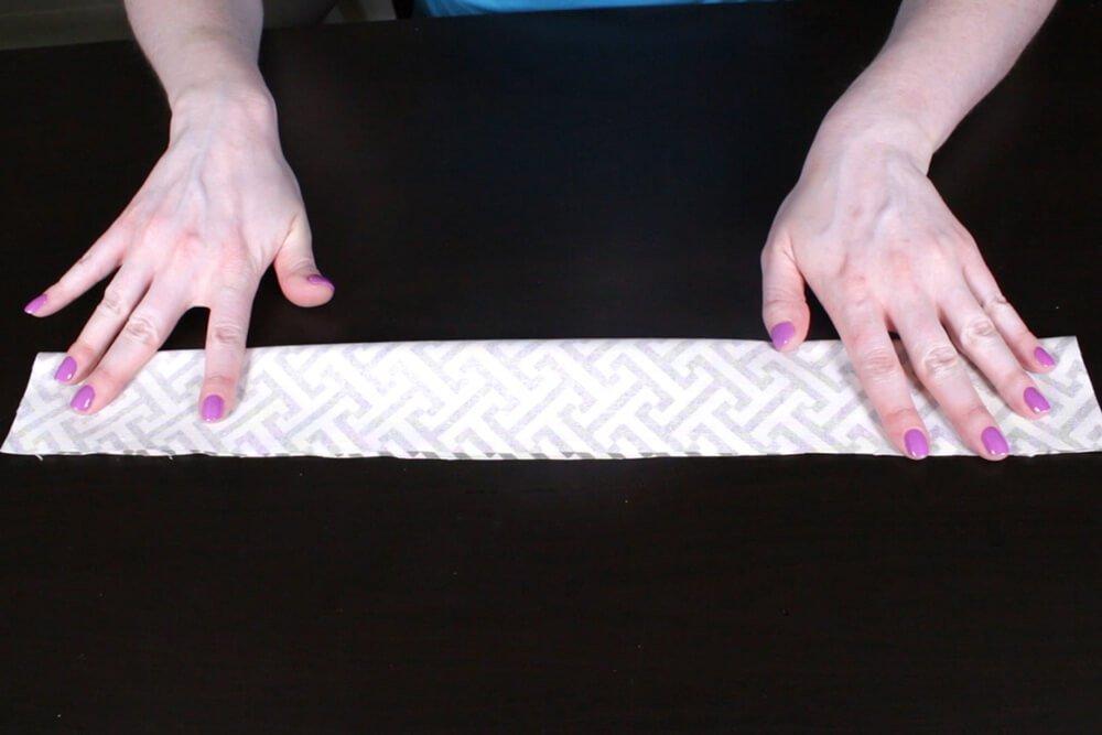 Box Cushion - Fold zipper panel in half