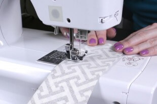 Box Cushion - Sew down the folded side