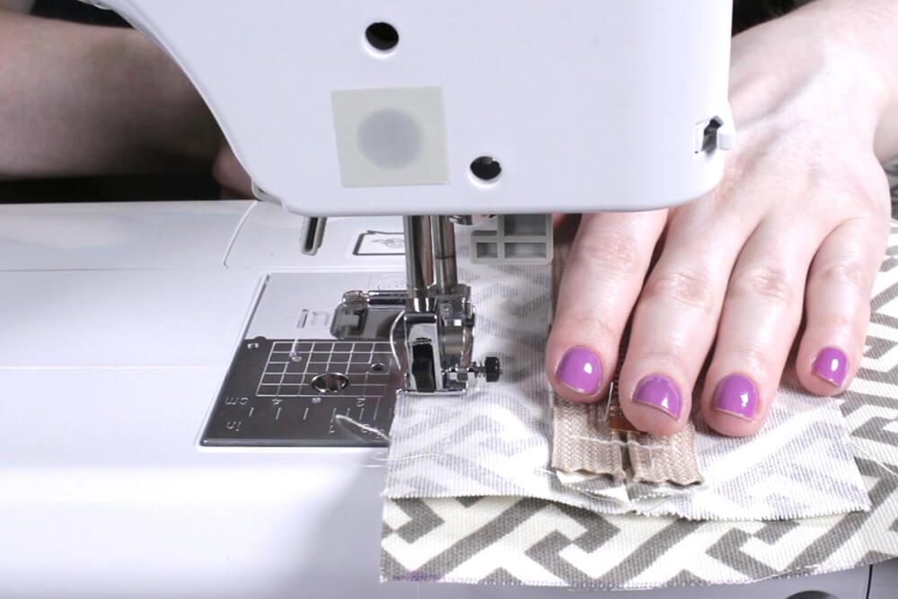 Box Cushion - Sew Zipper panel to top panel