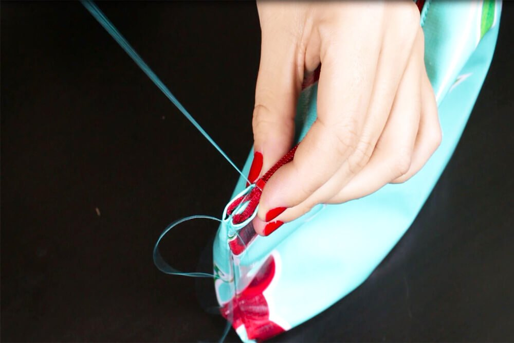 How to Make a Cosmetic Bag With Brush Holder - Stitch the sides and bottom