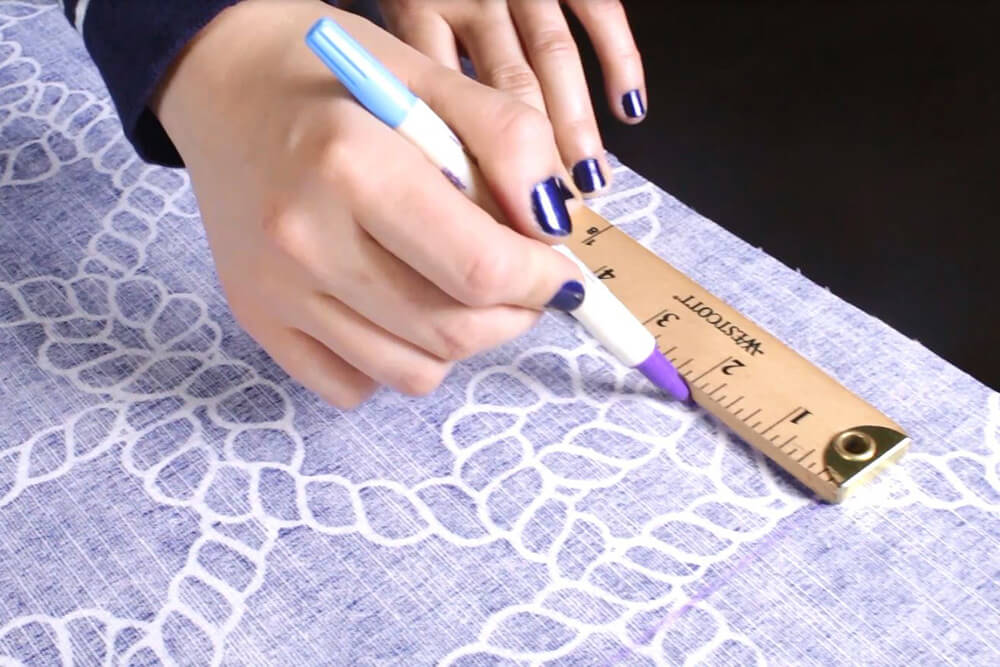 How to Make a Drawstring Bag - Measure and cut the fabric
