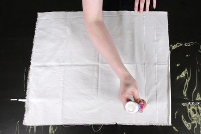 How To Dye Fabric: No Wax Batik Technique - Apply the glue