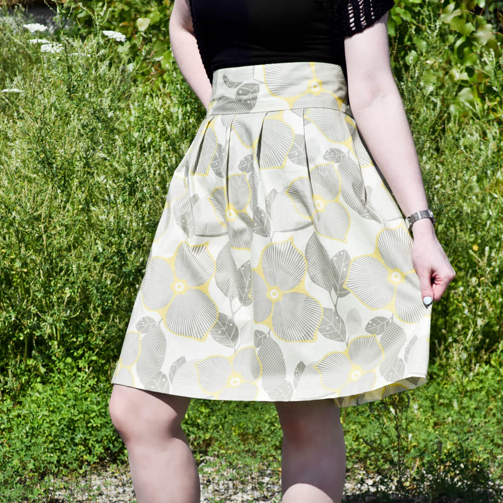 How To Make a High Waisted Pleated Skirt | OFS Maker's Mill