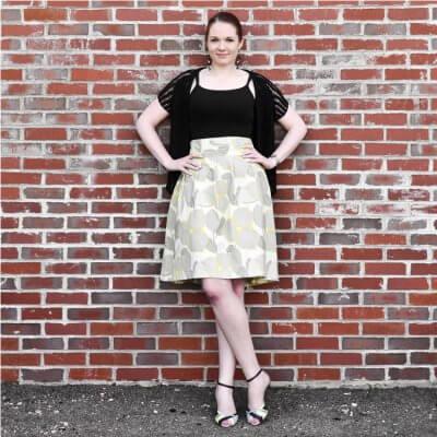 DIY High Waisted Pleated Skirt