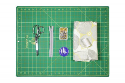 DIY High Waisted Pleated Skirt Materials