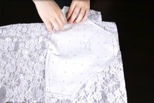 How To Make a Lace Blouse With a Lining - Cut out the patterns