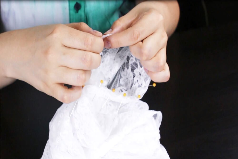 DIY Lace Blouse Tutorial - Sew the sleeves