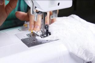 DIY Lace Blouse Tutorial - Finish the neckline