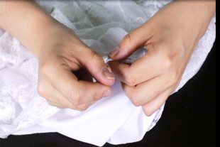 How To Make a Lace Blouse With a Lining - Hem