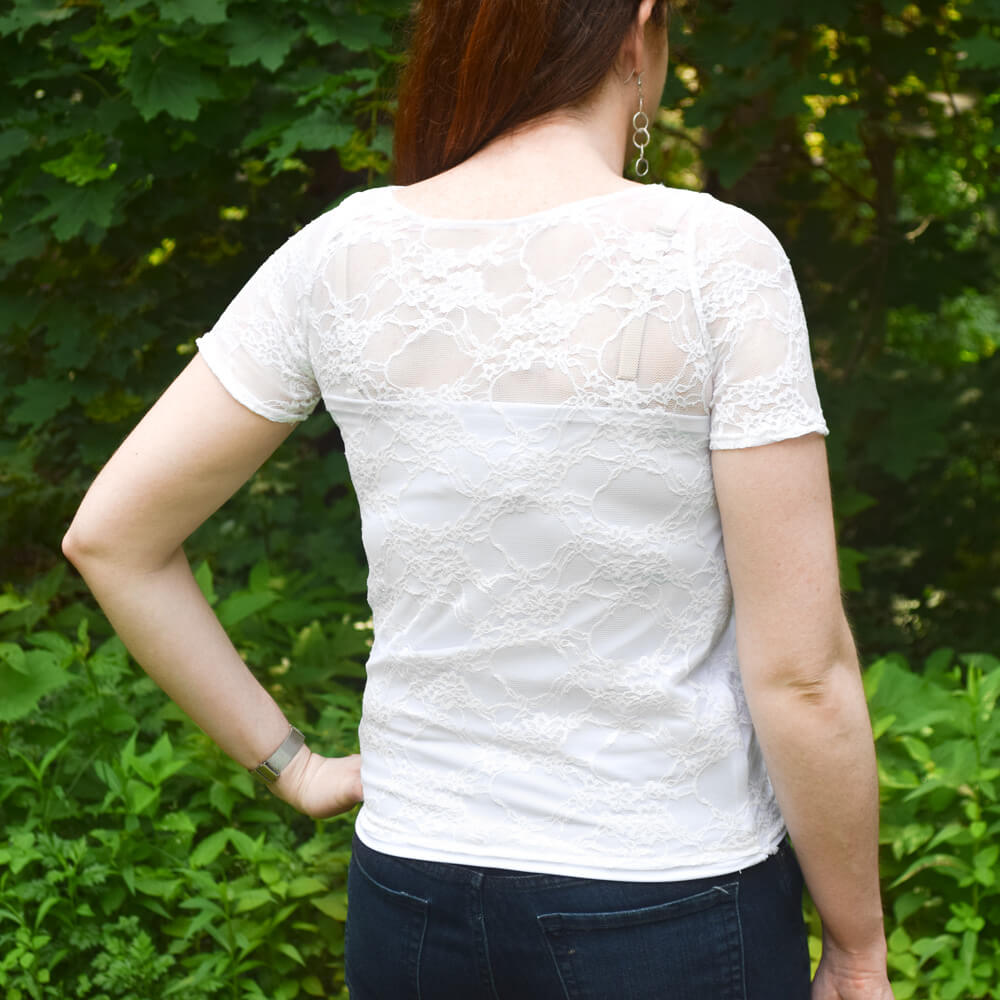 DIY Lace Blouse Tutorial Finished