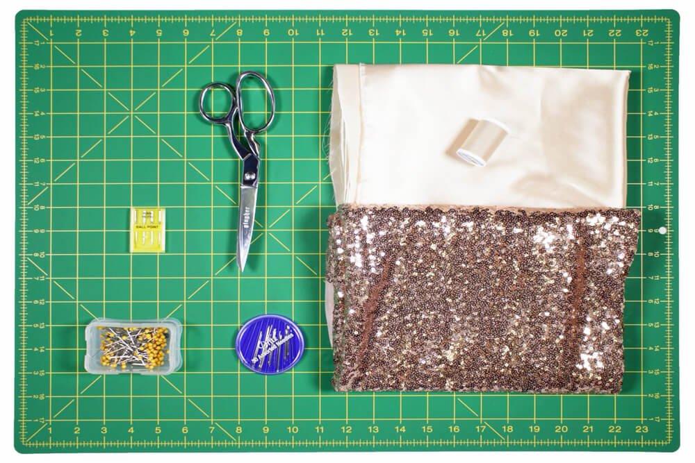 DIY Sequin Skirt Materials