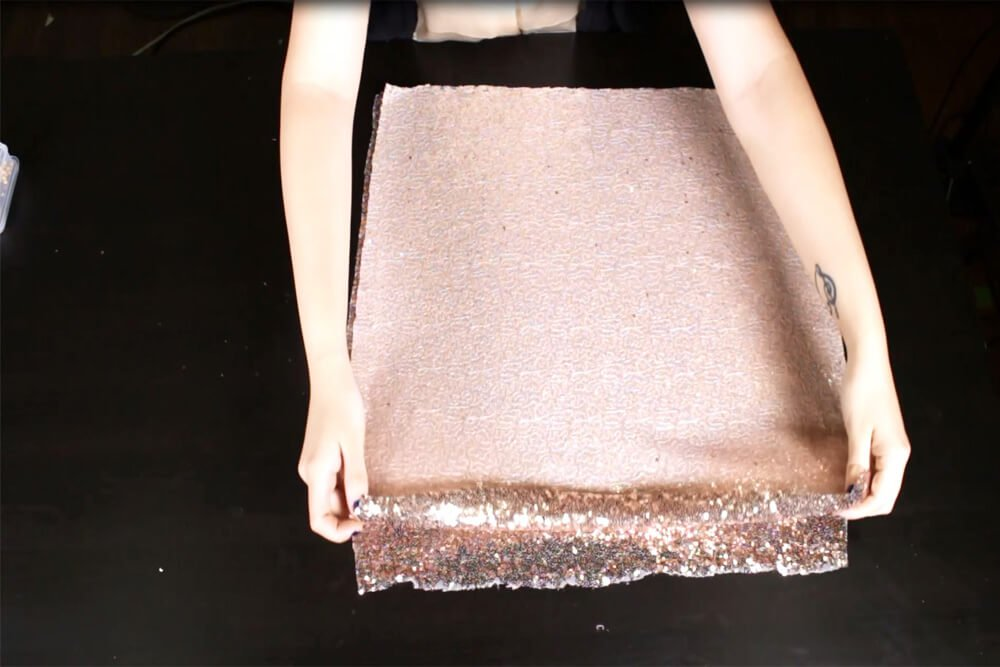 How To Make a Sequin Skirt Tutorial - Sew the sequins