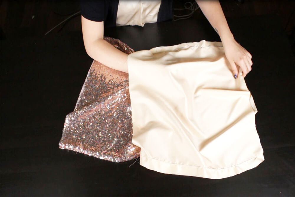 How To Make a Sequin Skirt Tutorial - Attach the lining