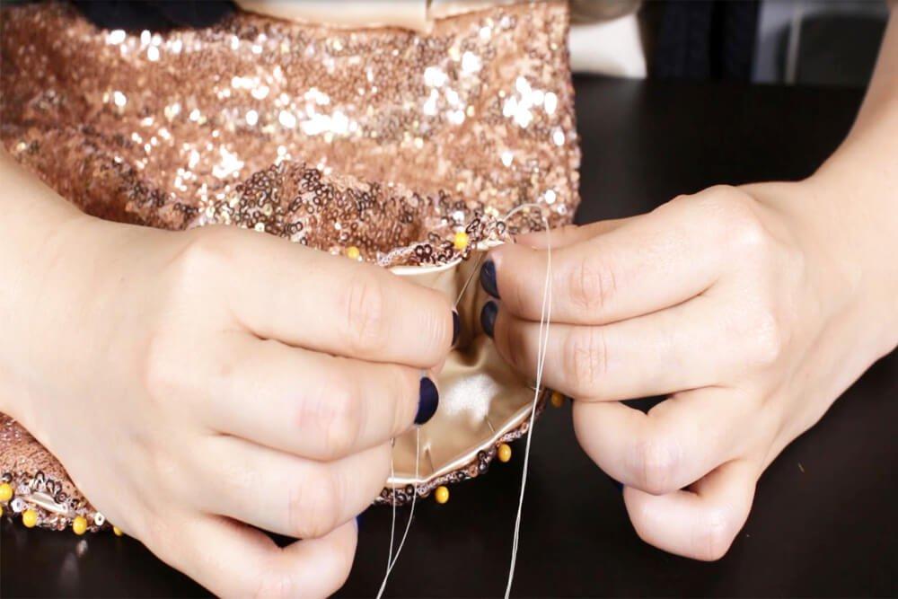 How To Make a Sequin Skirt Tutorial - Hem