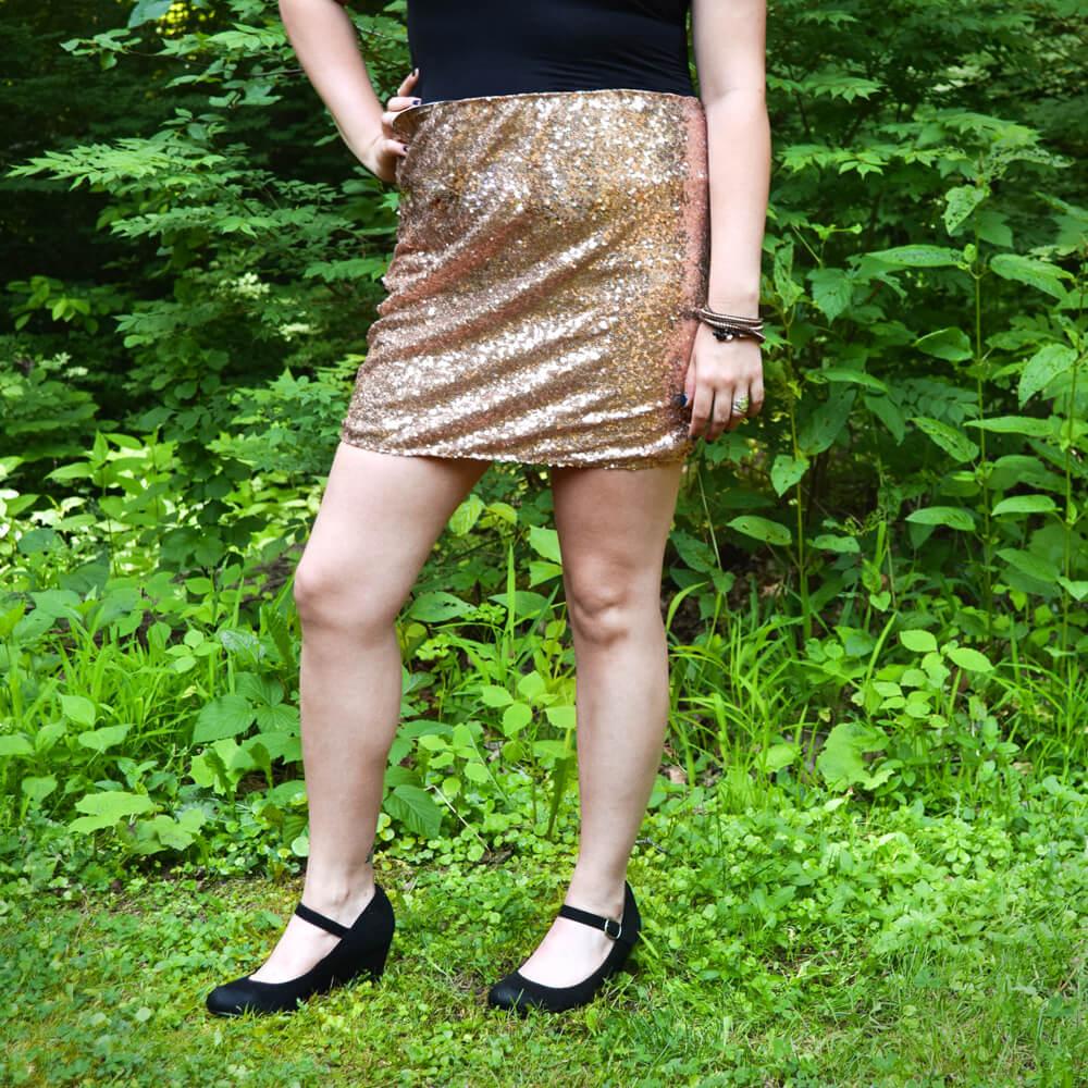 DIY Sequin Skirt Tutorial Finished