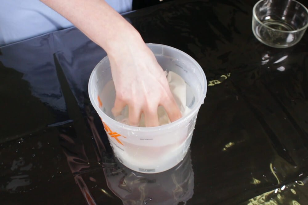 How To Dye Fabric Low Water Immersion Technique- Prepare for dyeing