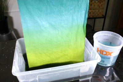 How To Dye Fabric Ombre Dip Dye Technique- Adding a second color