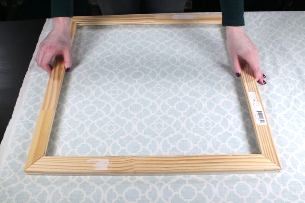 How To Make Fabric Wall Art- Assemble the frame