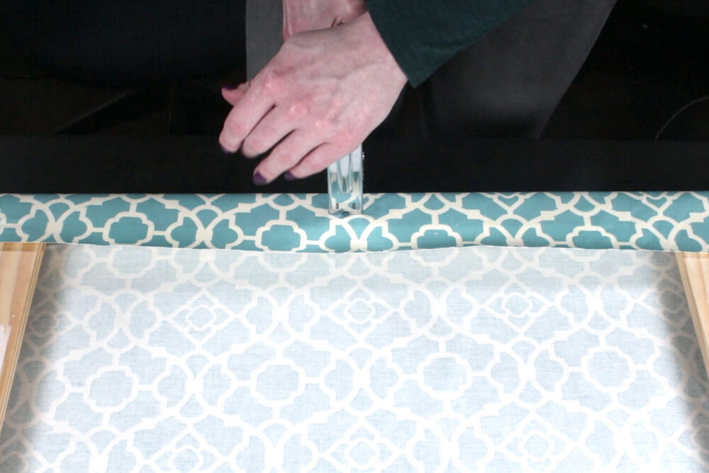 How To Make Fabric Wall Art - Wrap the frame